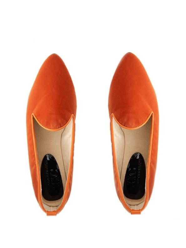 House of Cinnamon Friederike Velvet Loafer Pair