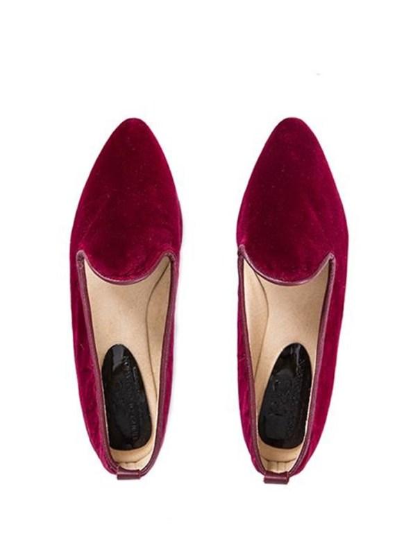 House of Cinnamon Jasmine Velvet Loafer Pair