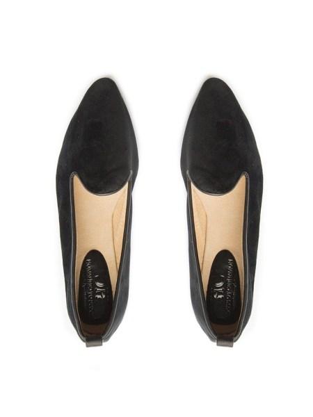 Black velvet loafers