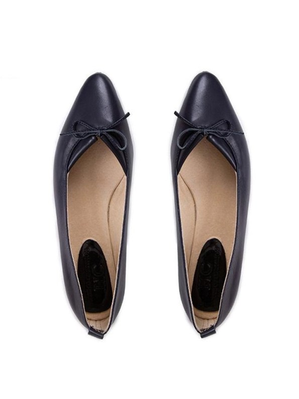 House of Cinnamon Monica Pointed Flat Navy Pair