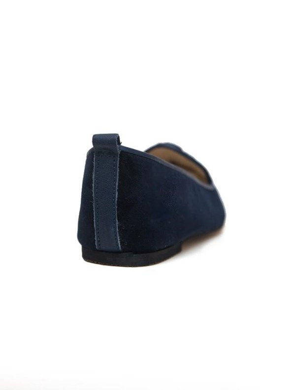 House of Cinnamon Robyn Velvet Loafer Navy Back