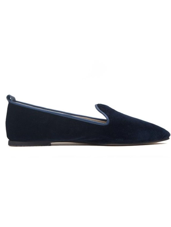 House of Cinnamon Robyn Velvet Loafer Navy
