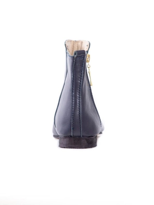 House of Cinnamon Suna Classic Ankle Boot Navy Back