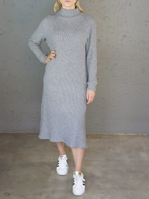 JMVB Angelou Knitted Sweater Dress Grey Front