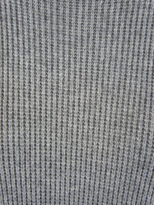 JMVB Grey Knit Fabric Detail