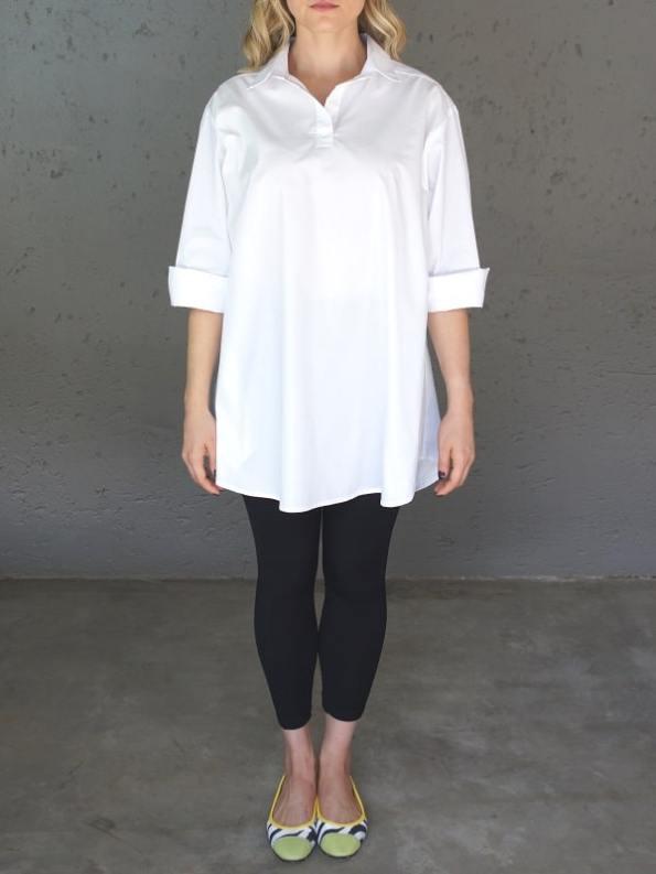 JMVB Rowling Oversized Shirt White Front