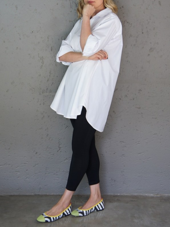 JMVB Rowling Oversized Shirt White Side