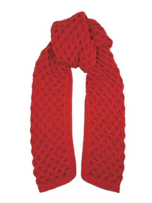 Erre Bubble Knit Scarf Red