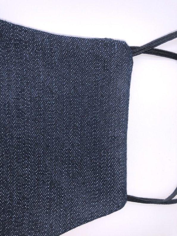 JMVB Face Mask Blue Denim Closeup