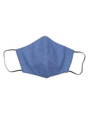 Blue cotton face mask made in South Africa