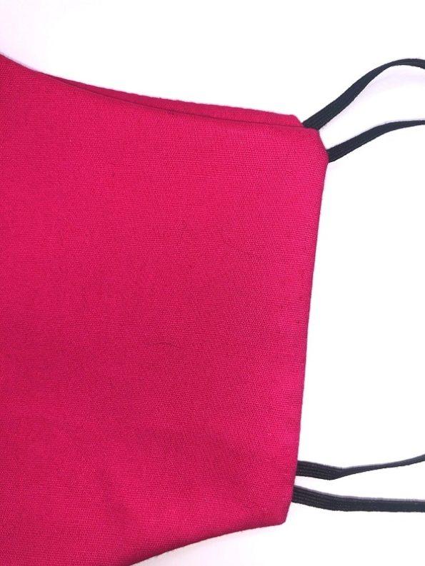 JMVB Face Mask Hot Pink Close up