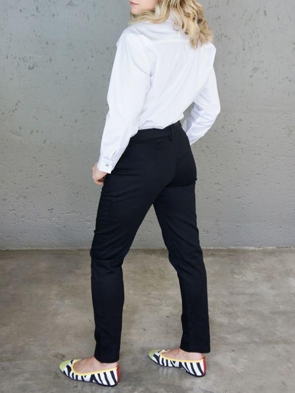 JMVB Hynde Boyfriend Shirt White Back