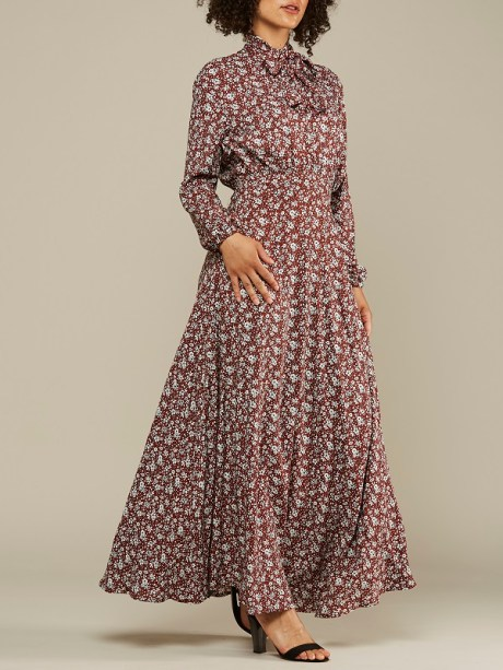 Red floral Maxi Dress made in South Africa