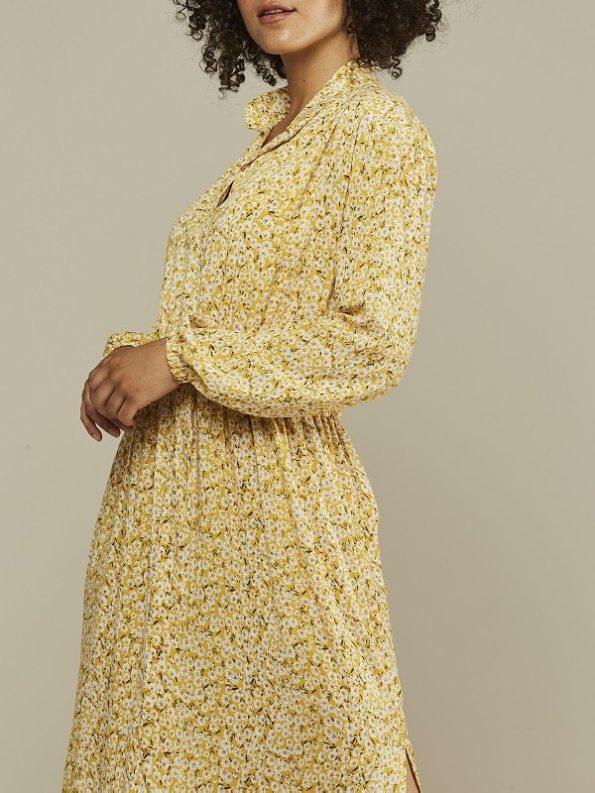 Mareth Colleen Isla Dress Yellow Floral Closeup