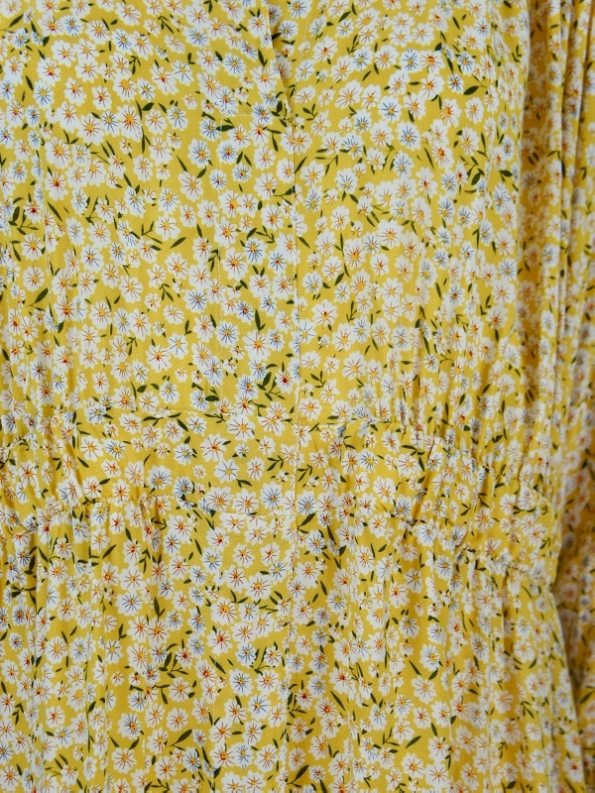 Mareth Colleen Isal Dress Yellow Floral Detail