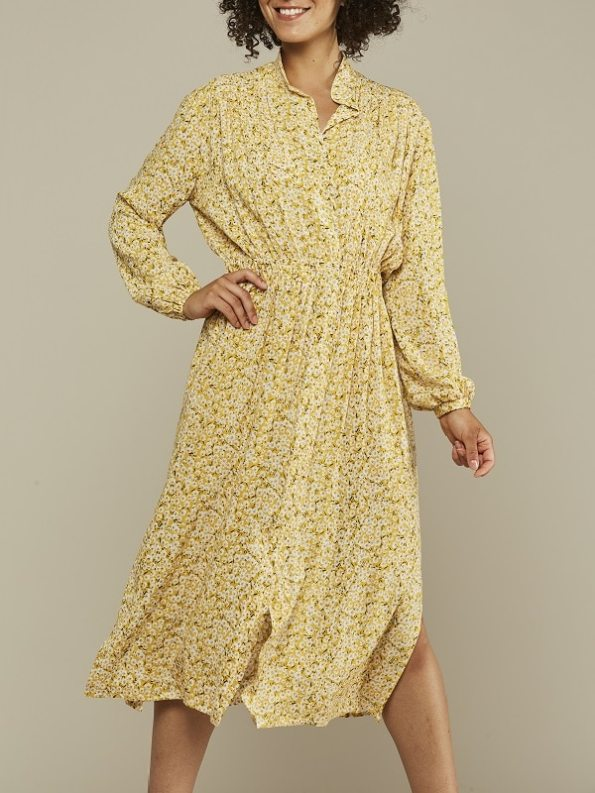 Mareth Colleen Isla Dress Yellow Floral Front 4