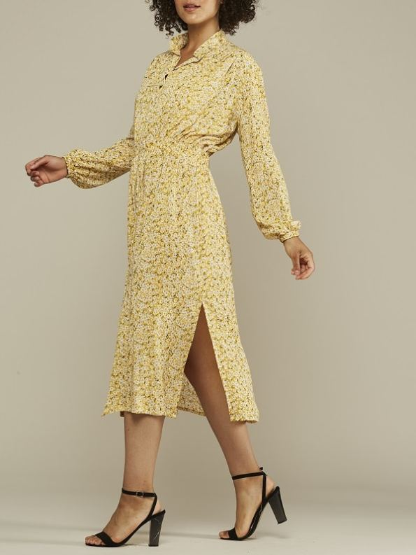 Mareth Colleen Isla Dress Yellow Floral Side 2