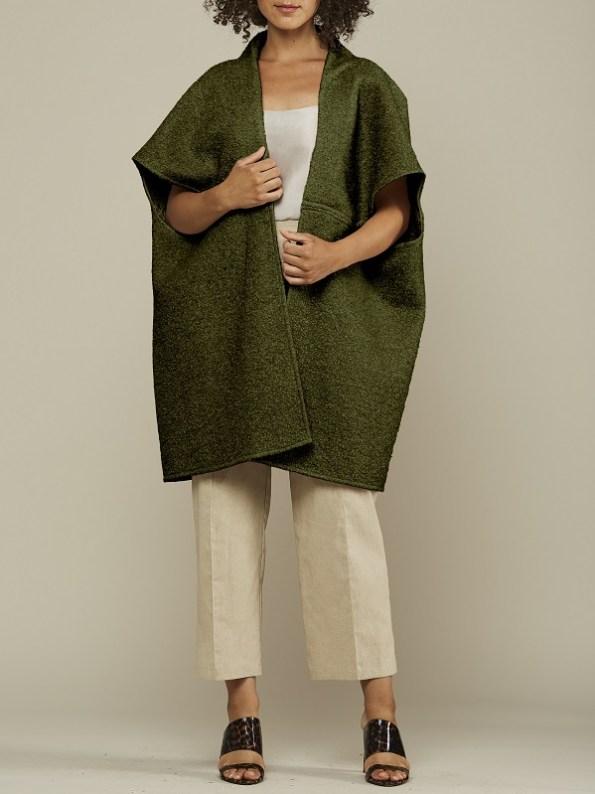 Mareth Colleen Jei Coat Seaweed Green Front