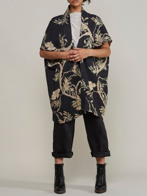 Linen Navy Jacket with Floral South Africa