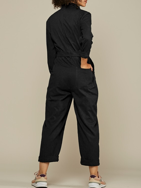 Mareth Colleen Long Sleeve Boilersuit Black Back