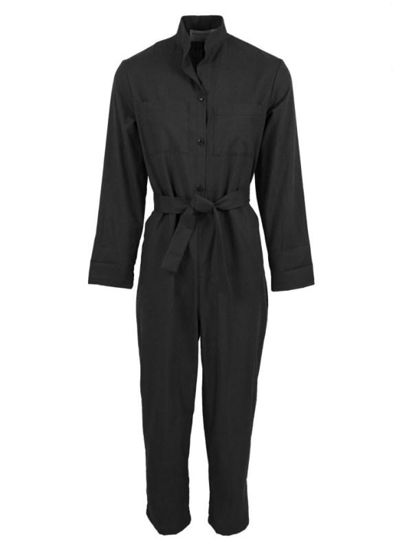 Mareth Colleen Long Sleeve Boilersuit Black