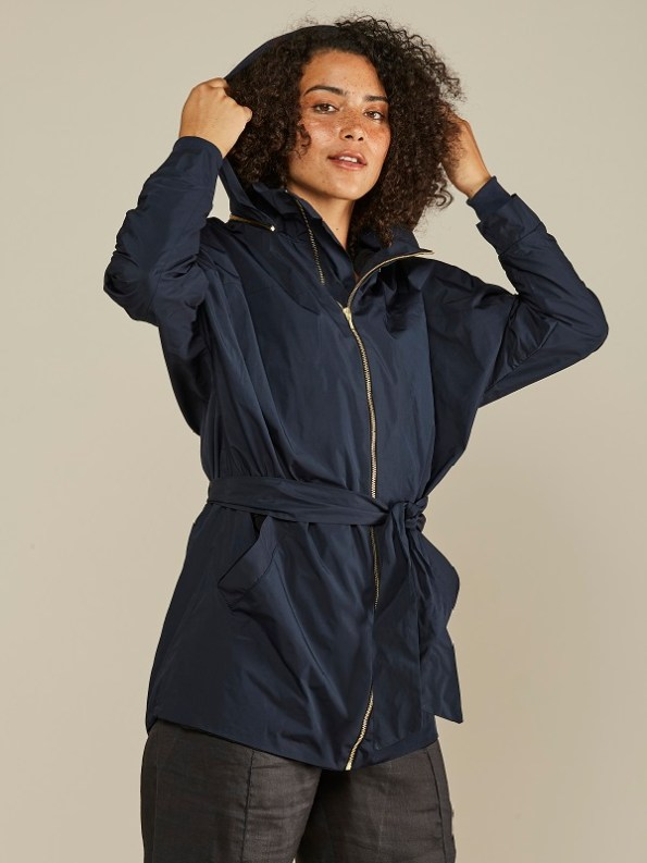 Mareth Colleen Parka Navy Cropped