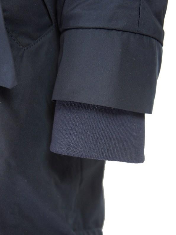 Mareth Colleen Parka Navy Sleeve Detail