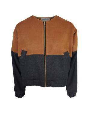 Brown and grey bomber jacket made in South Africa