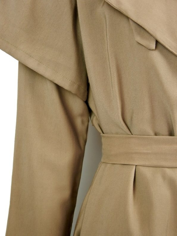 Mareth Colleen Trench Coat Camel Detail