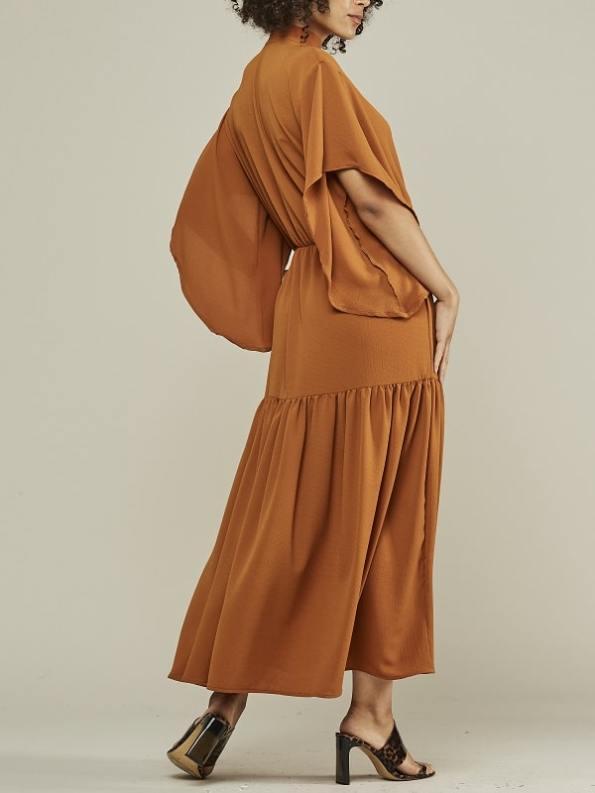 Mareth Colleen Tristan Maxi Dress Clay Back 2