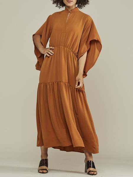 Brown boho dress made in Cape Town South Africa