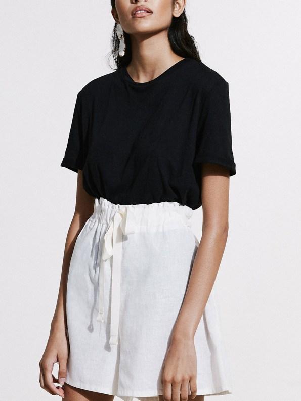 Asha Eleven Salama Shorts Natural with Black Hemp T-shirt 5