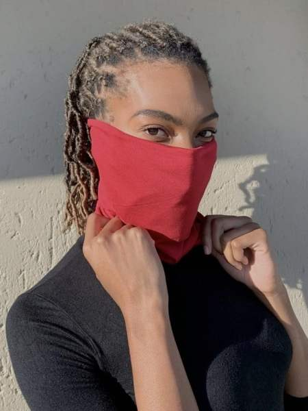 Buy red buff scarf mask mask South Africa Stay up with wire