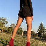 Erre Kick Back Socks Red Mohair Blend