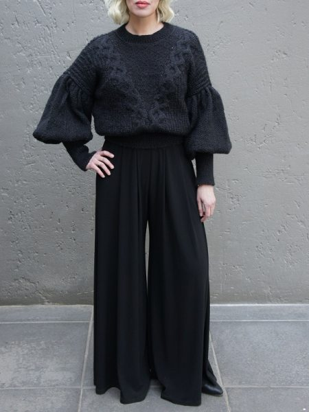Black knitted sweater jersey from wool and mohair South Africa