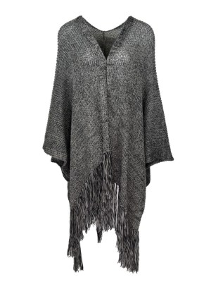 grey mohair shawl with tassels made in South Africa