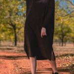 Isabel de Villiers Boxy Knit Dress Navy