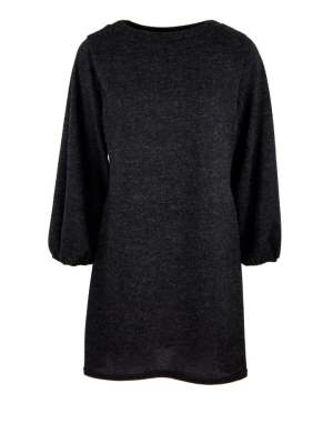 Black knitted dress with over-sized balloon sleeves South Africa