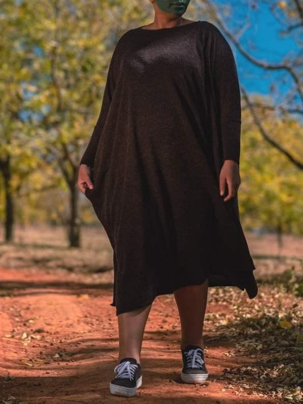 Isabel de Villiers Knit Boxy Dress Black 1