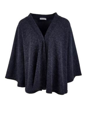 Navy cape jacket made in South Africa from knitted fabric