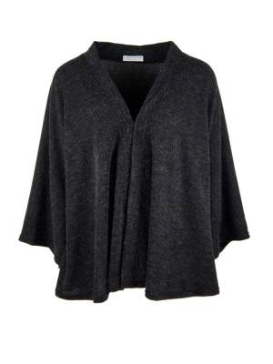 Black cape jacket made in South Africa from knitted fabric