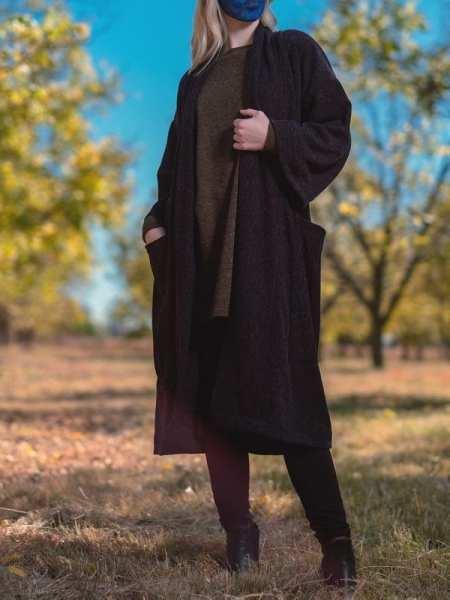 Knit Kimono Jacket Navy Long cardigan South Africa
