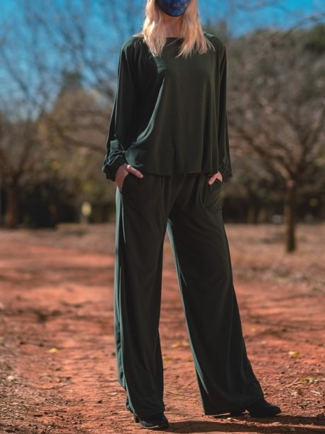 Green winter jumpsuit made in South Africa