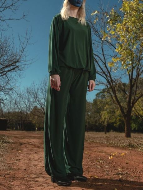 Long sleeve green jumpsuit made in South Africa