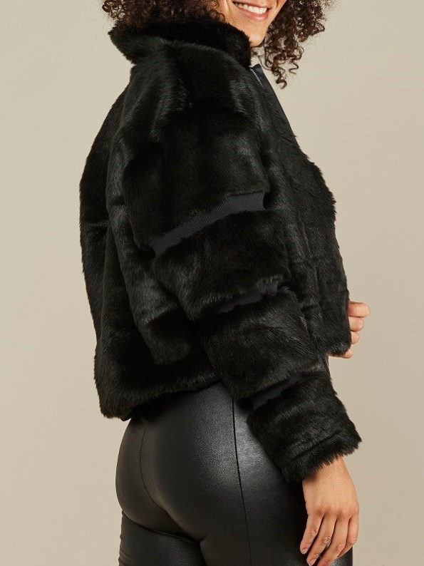 Mareth Colleen Faux Fur Moskow Jacket Black Side 2