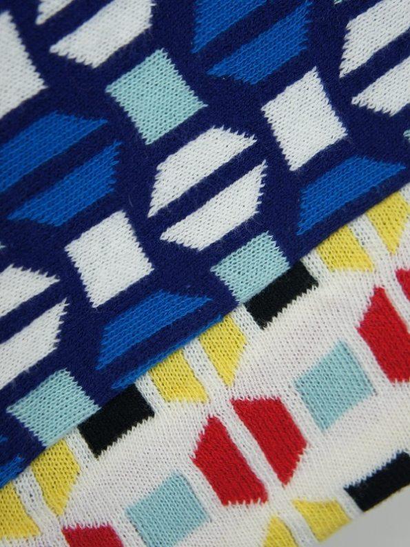 Romaria Short Knitted Kimono Blue Detail