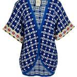 Romaria Short Knitted Kimono Blue