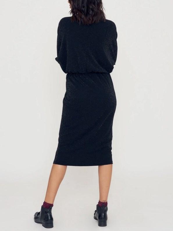 Good Clothing Sphynx Dress Black Sparkle Back