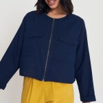Good Wearwithanything Jacket Navy Linen Blend