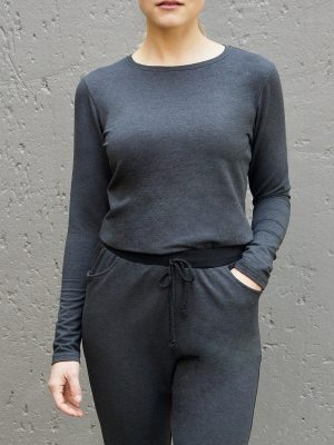 charcoal grey ladies long-sleeve T-shirt Winter tops made in South Africa